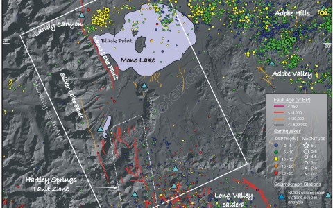 Earthquakes used in seismotectonic analysis of Mono Basin